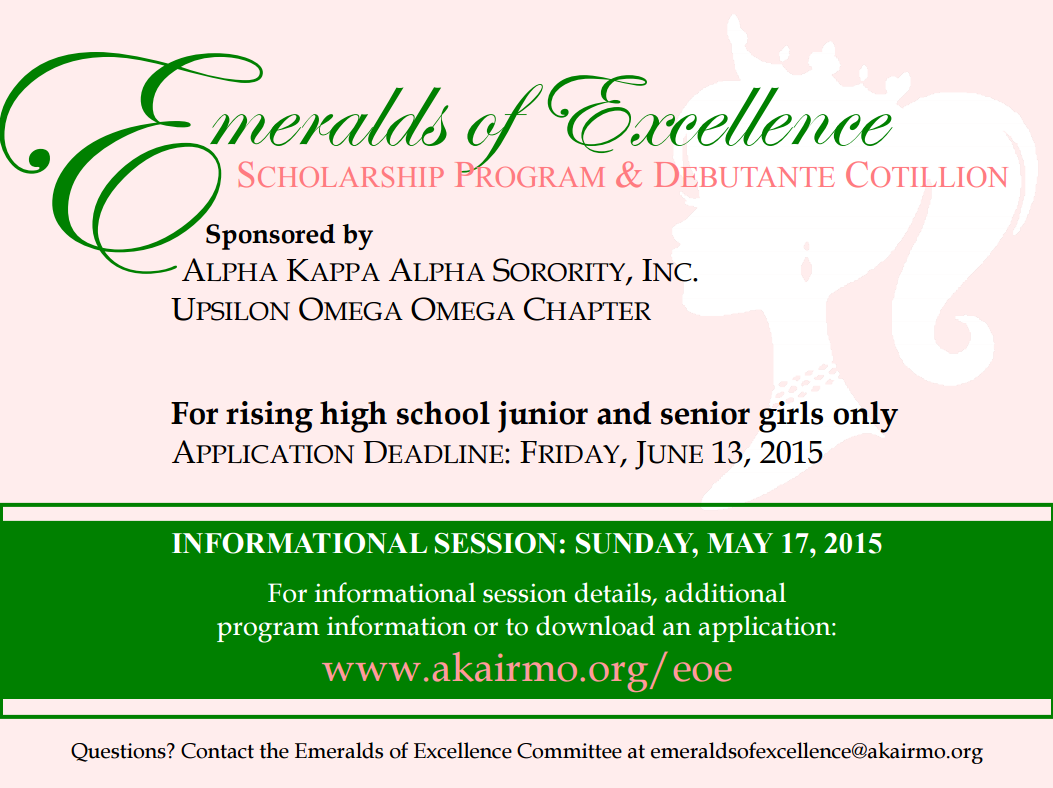 Emeralds of Excellence Information Session @ Irmo Town Hall | Irmo | South Carolina | United States