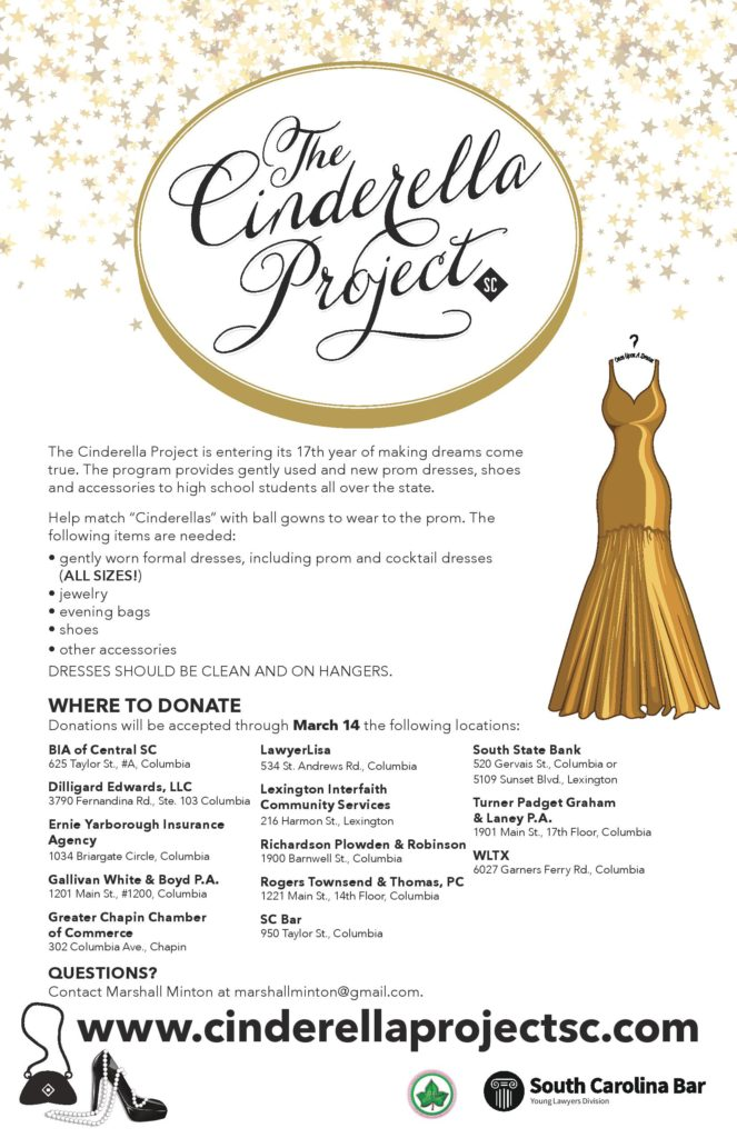 The Cinderella Project Donation Drop-Off @ Various Locations