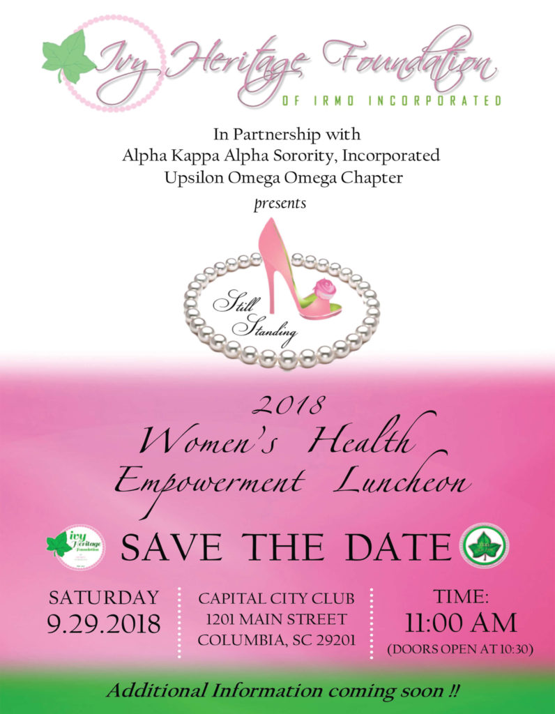 Still Standing Women's Health Empowerment Luncheon @ Capital City Club | Columbia | South Carolina | United States