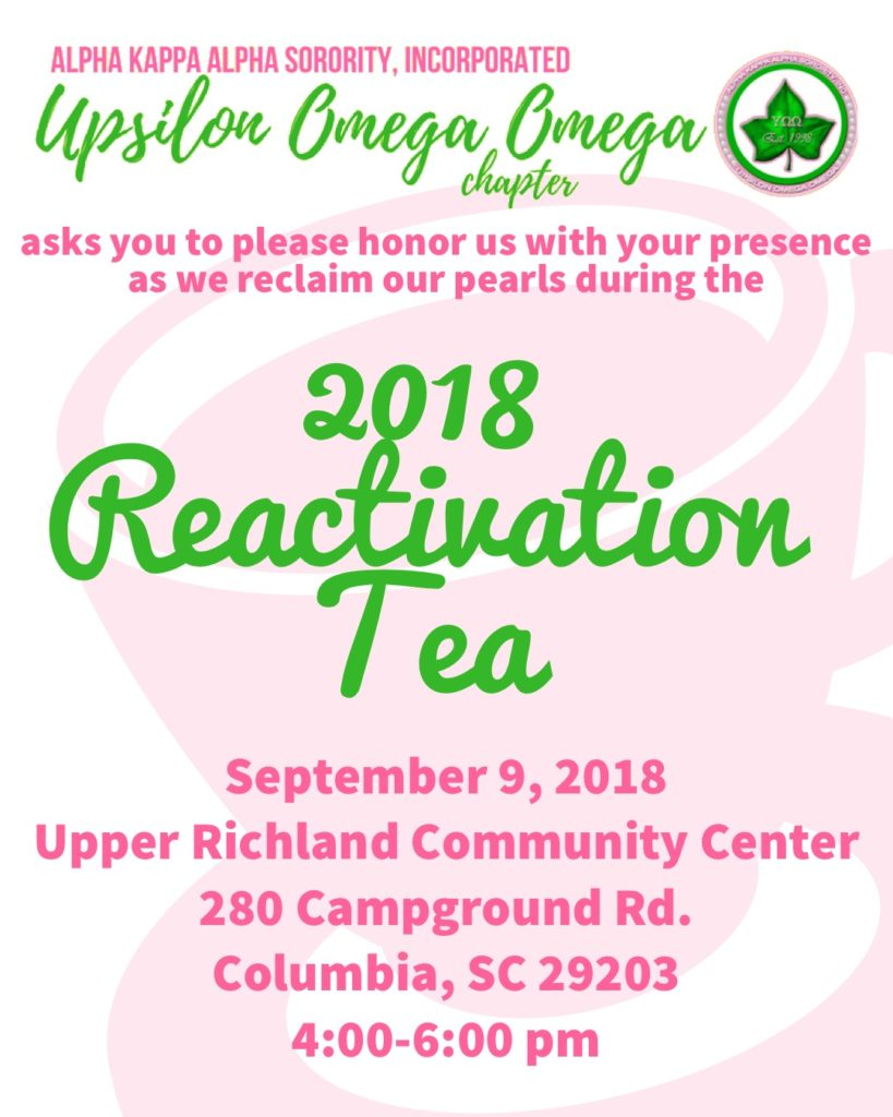 2018 Reactivation Tea @ Upper Richland Community Center | Columbia | South Carolina | United States