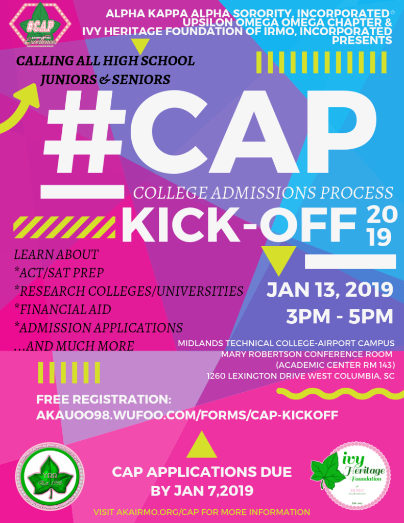 #CAP Kick-Off @ Midlands Technical College-Airport Campus-Academic Center Rm 143