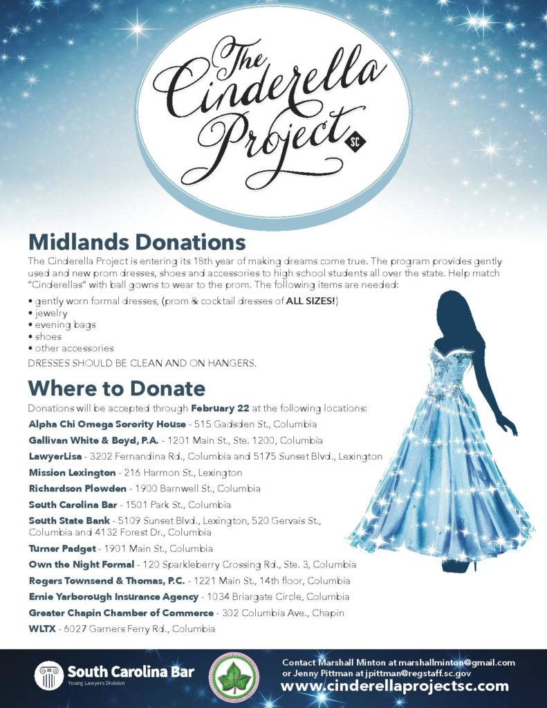 Cinderella Project Boutique Donation Drop-Offs