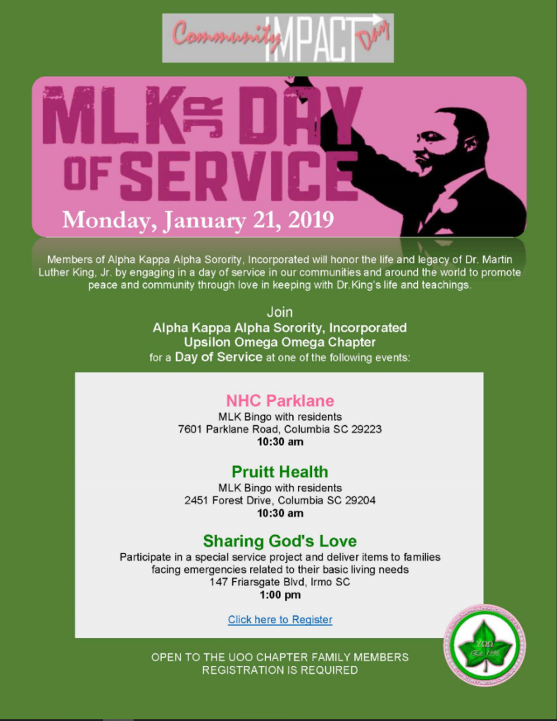 MLK Day of Service @ various locations